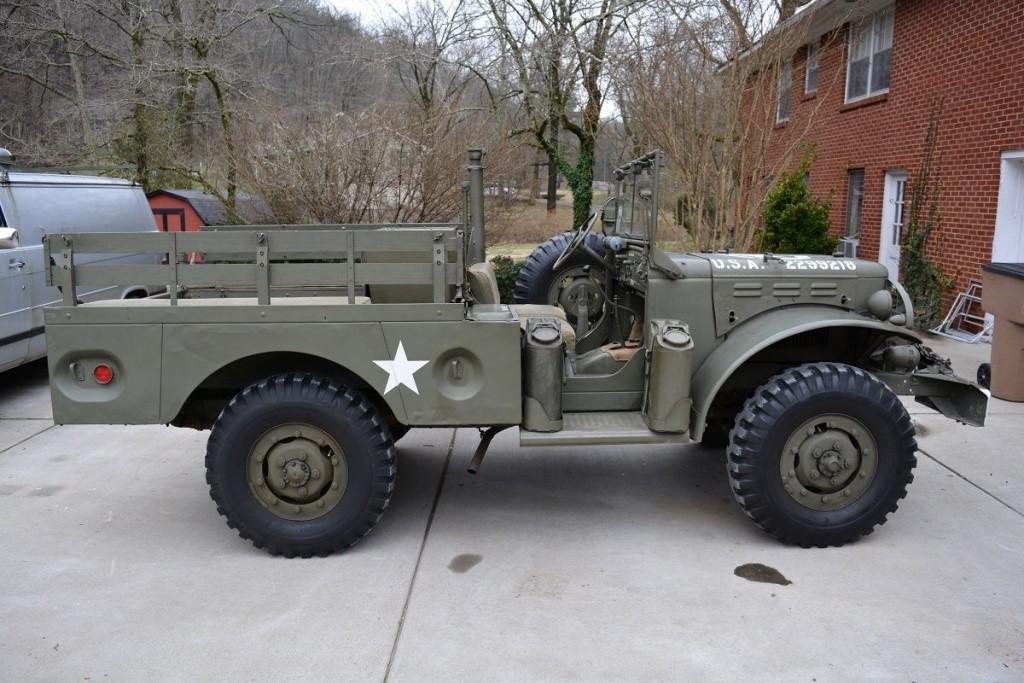 1945 dodge wc52 us army 12v original restored turn key