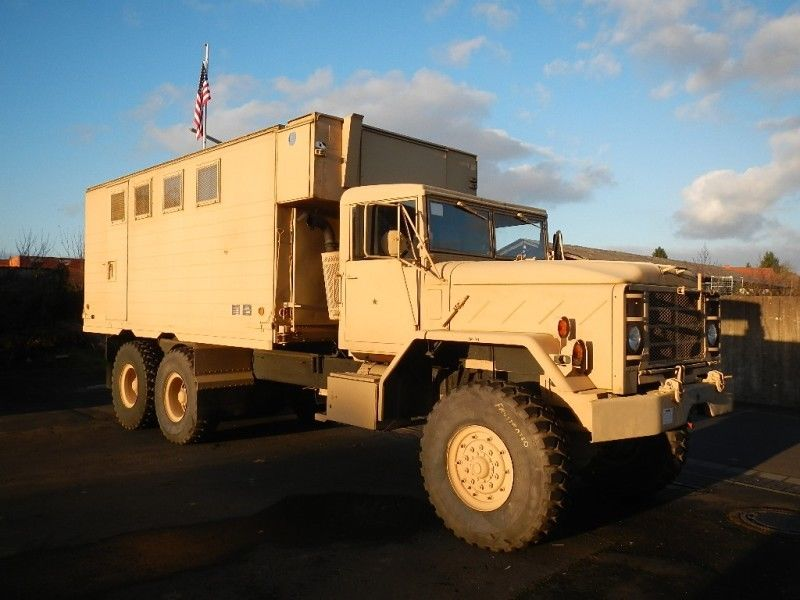 command truck 1992 BMY M934A2 5 Ton Expando mobile military for sale