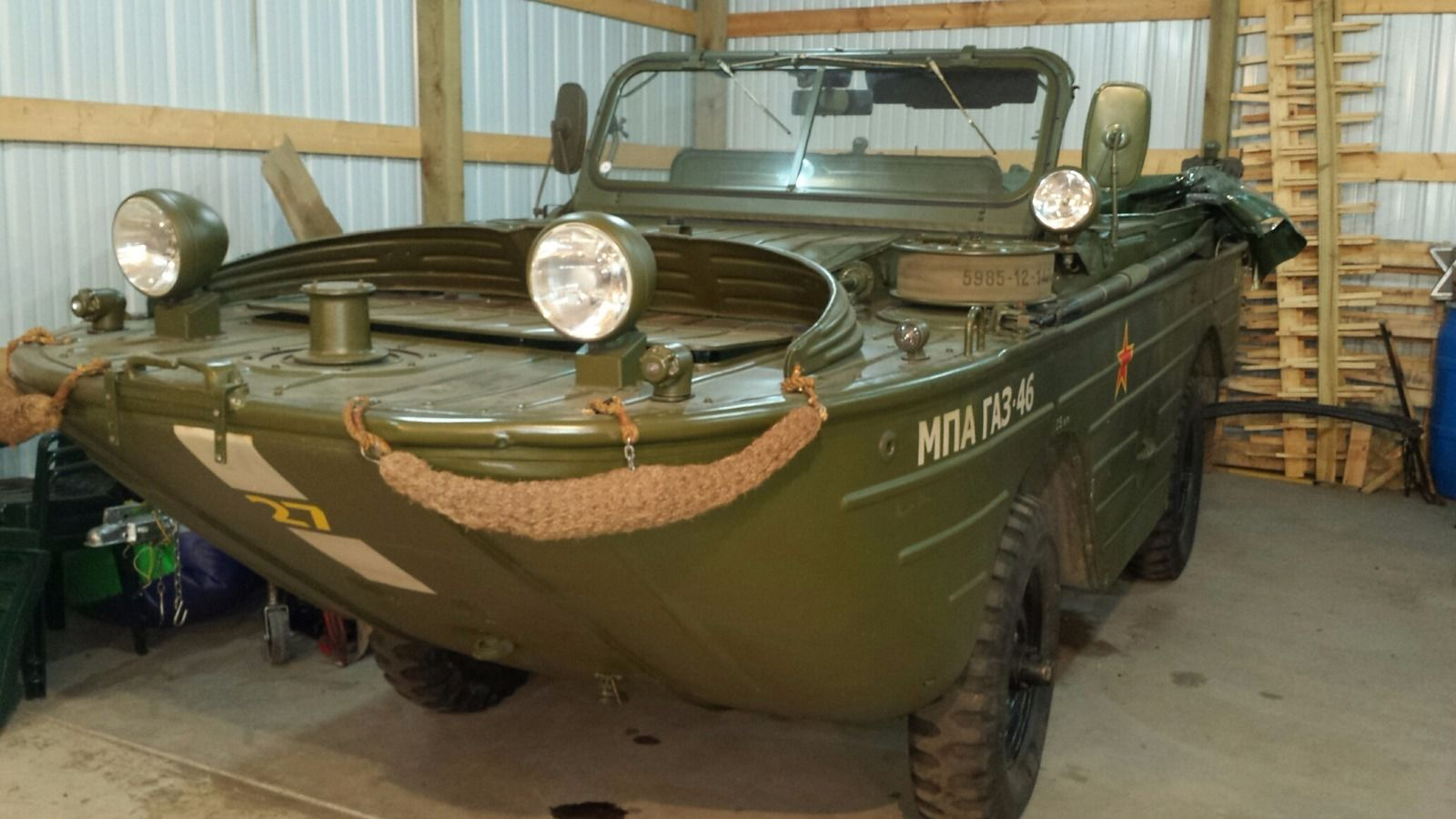 Russian GAZ 46 4X4 Amphibious Vehicle military for sale