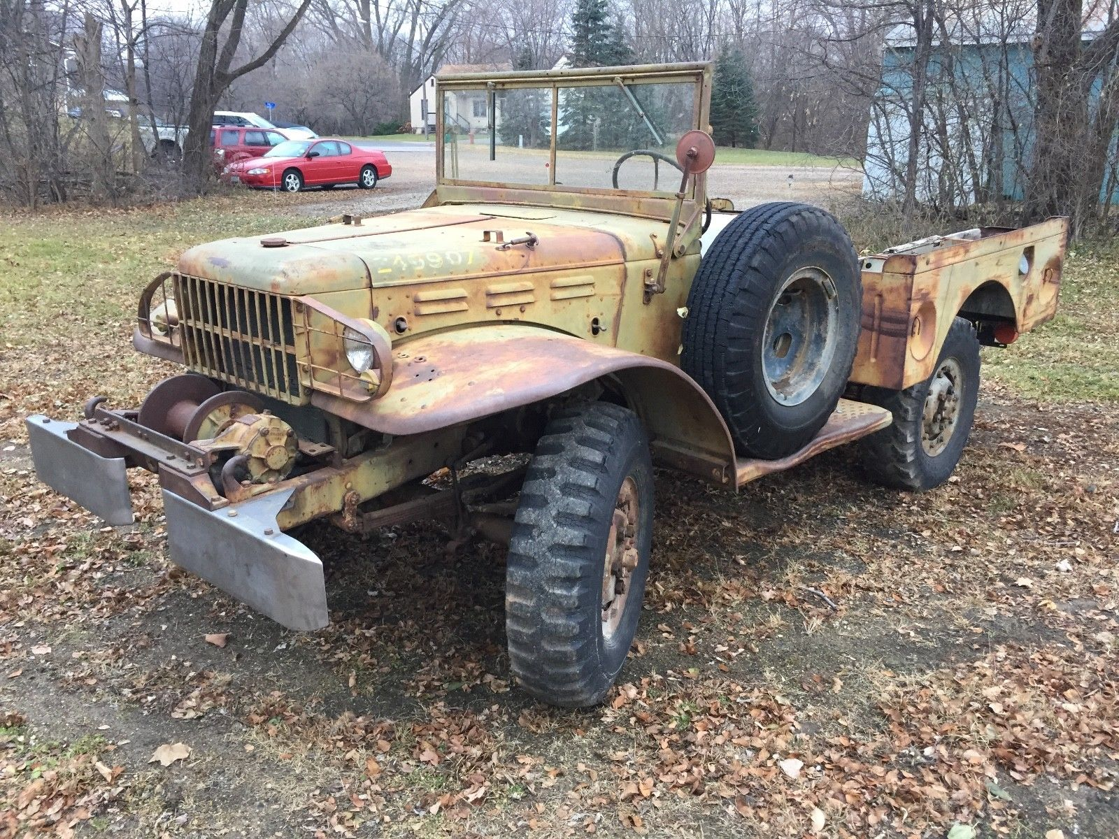 Vehicles For Sale: Almost No Rust 1945 Dodge WC 52 Weapons Carrier Military