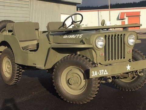 lots of new parts 1947 Willys CJ2a Jeep military for sale