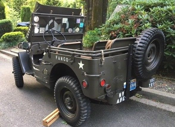 pampered original 1942 Ford GPW WWII Army Jeep military for sale