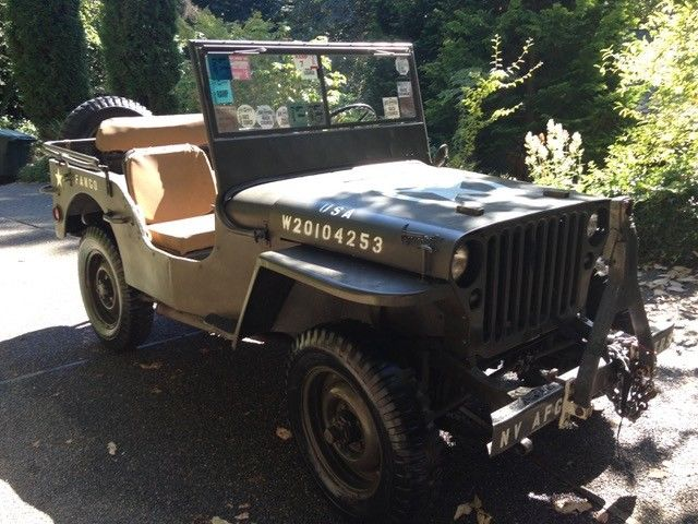 pampered original 1942 Ford GPW WWII Army Jeep military