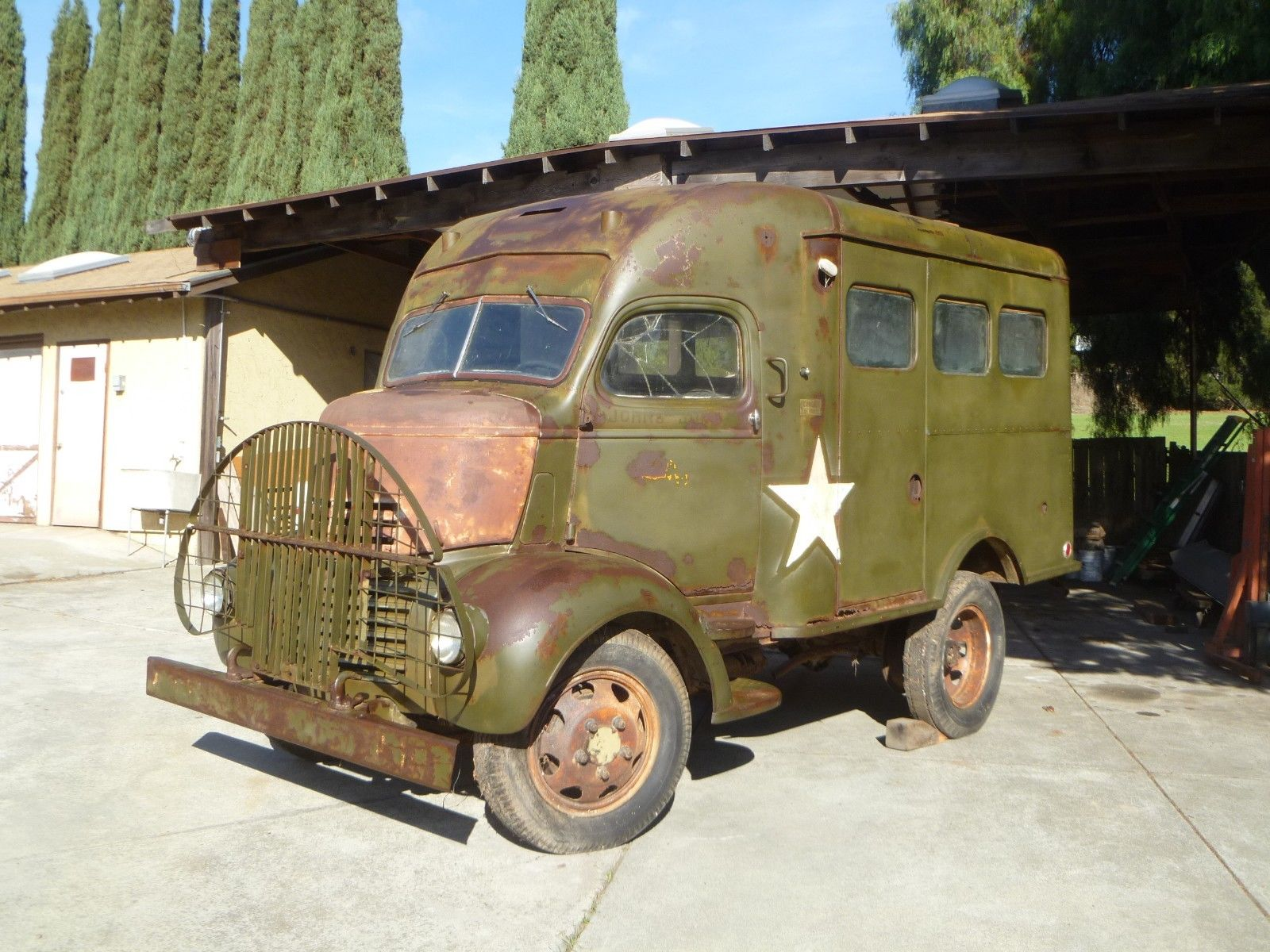 rare 1941 GMC COE military radio truck for sale