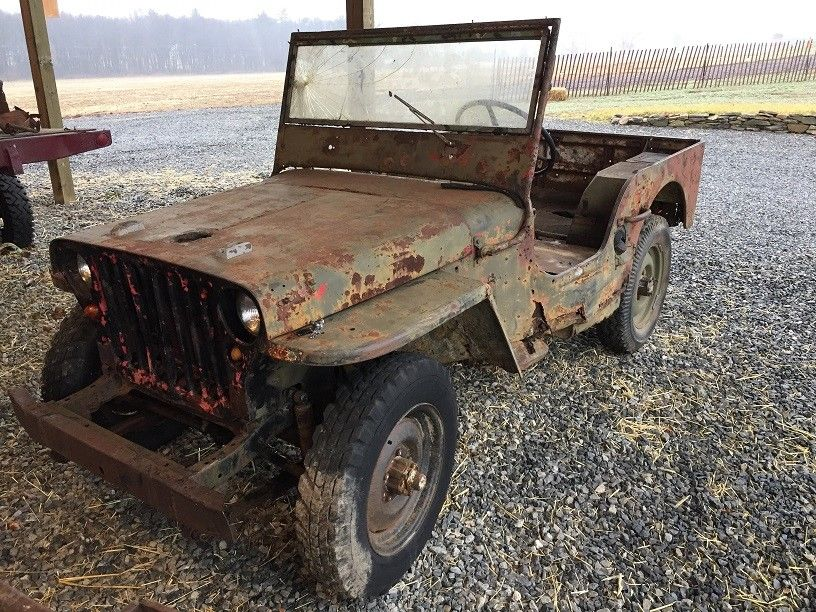 rusty 1942 Ford GPW military for sale