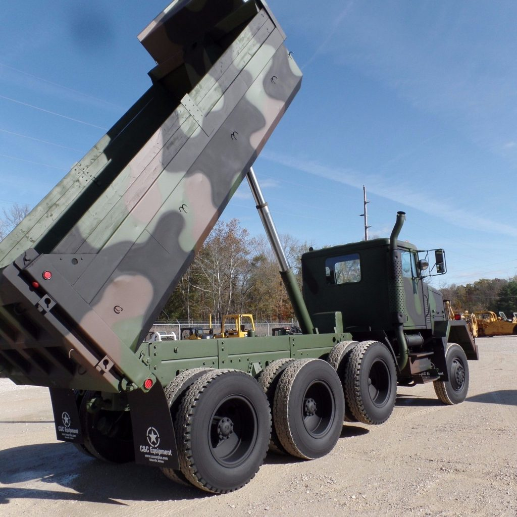 low miles 1979 AM General M917 8×6 Military dump Truck