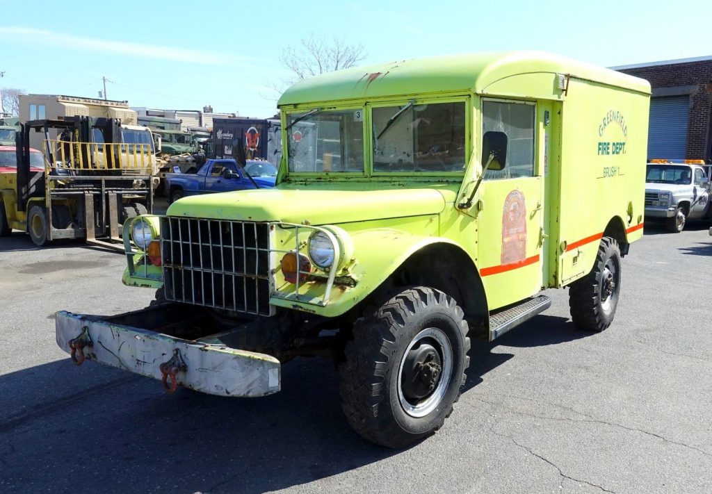 new transmission 1962 Dodge M43 4×4 3/4 Ton Ambulance military for sale