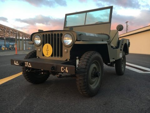 rebuilt 1948 Willys CJ2a military for sale