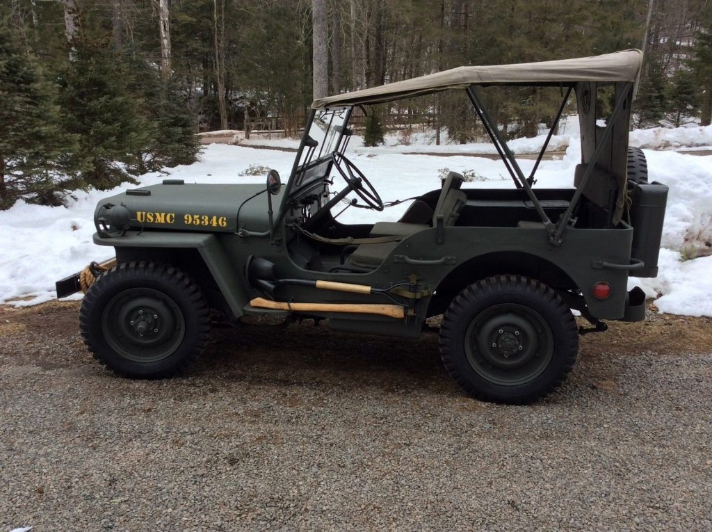restored 1943 Ford GPW Military jeep willys military for sale