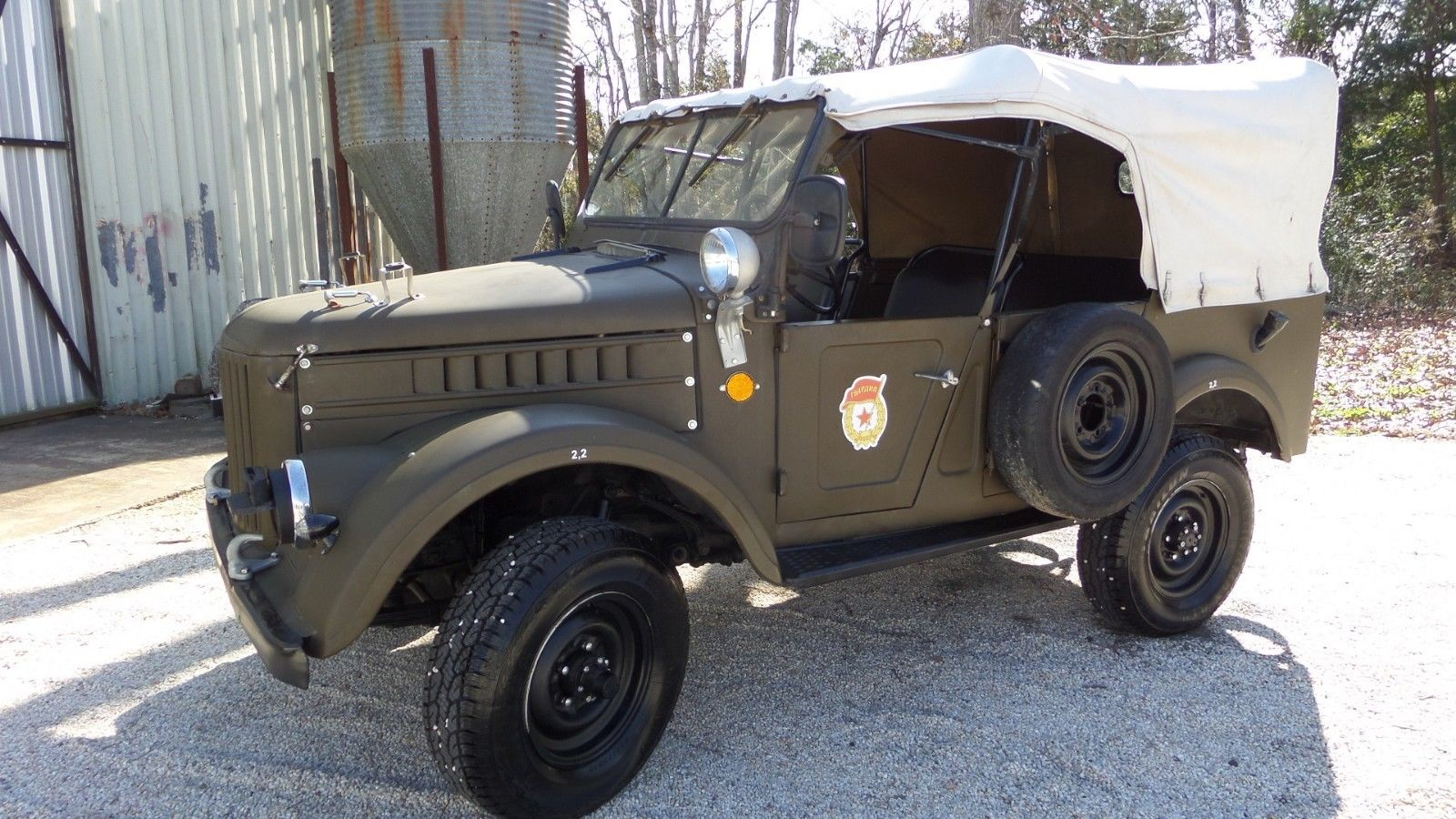 works great 1968 GAZ EX Military Convertible