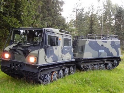 extremely dependable 1988 Sisu Nasu Na140 Tracked Amphibious Personnel Carrier military for sale