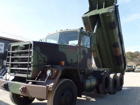 low miles 1979 AM General M917 8×6 Military dump Truck for sale
