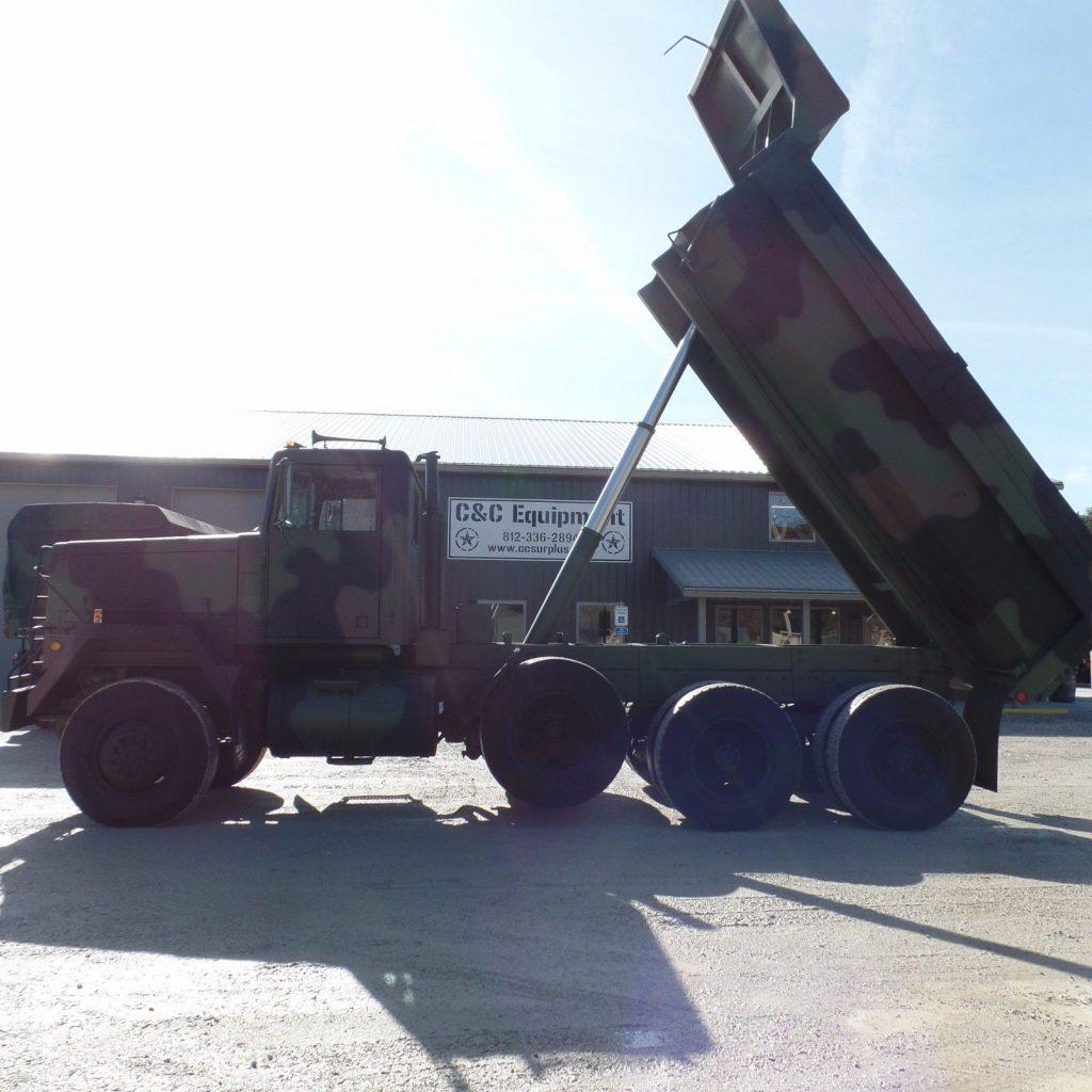 low miles 1979 AM General M917 8×6 Military dump Truck