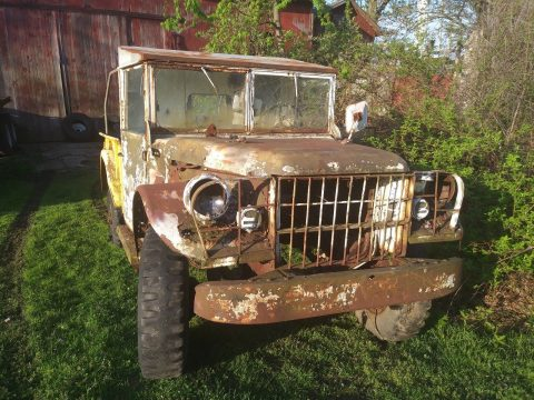 homemade hardtop 1950's Dodge M37 military for sale