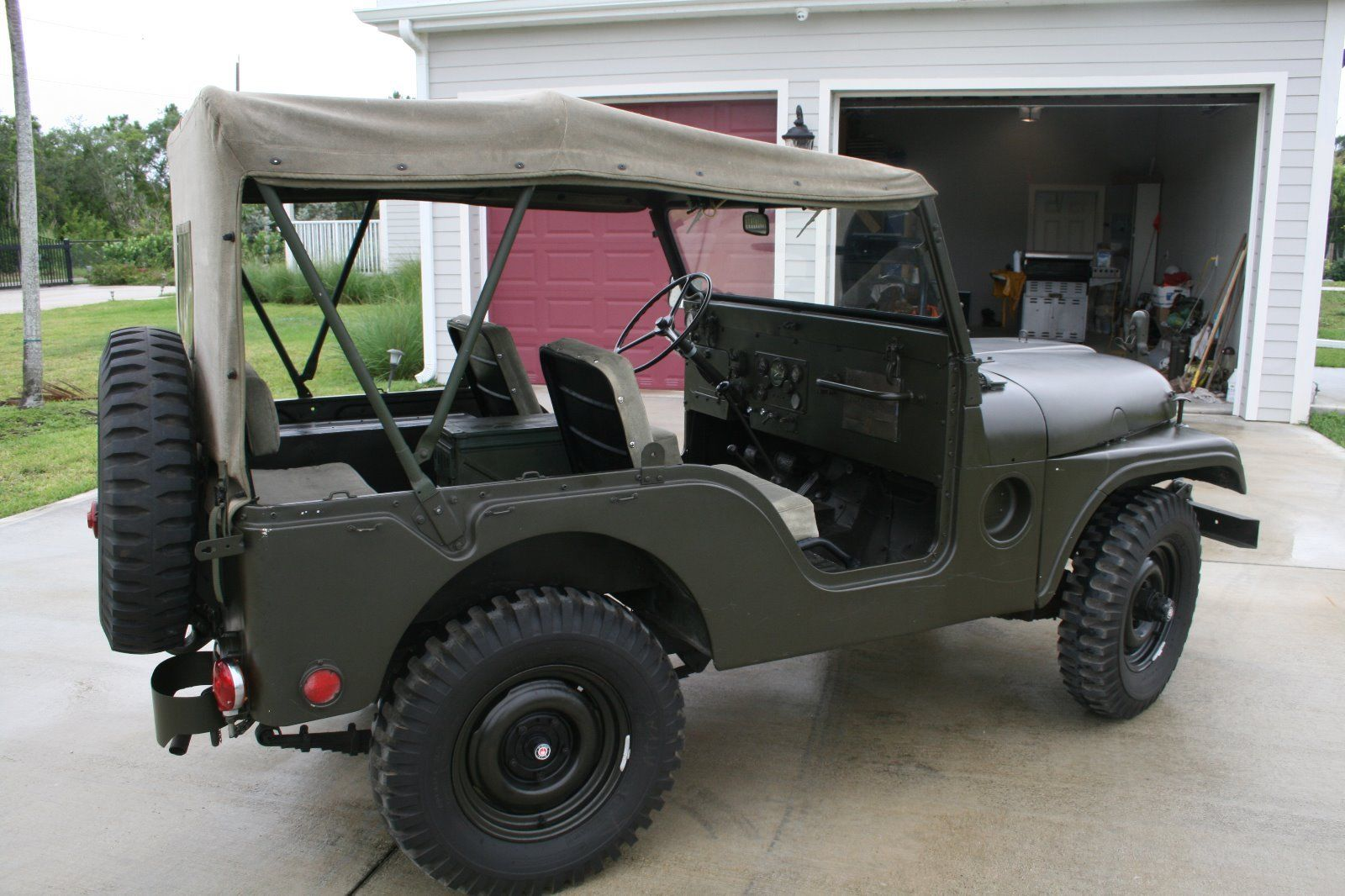 movie car 1953 Willys Jeep M38A1 military