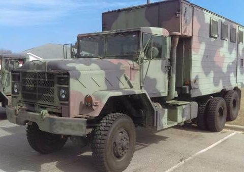 very dependable 1982 AM General M934a0 6×6 Military Expando shop van for sale