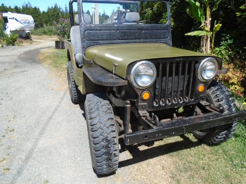 partially restored 1948 Willys CJ2A military for sale