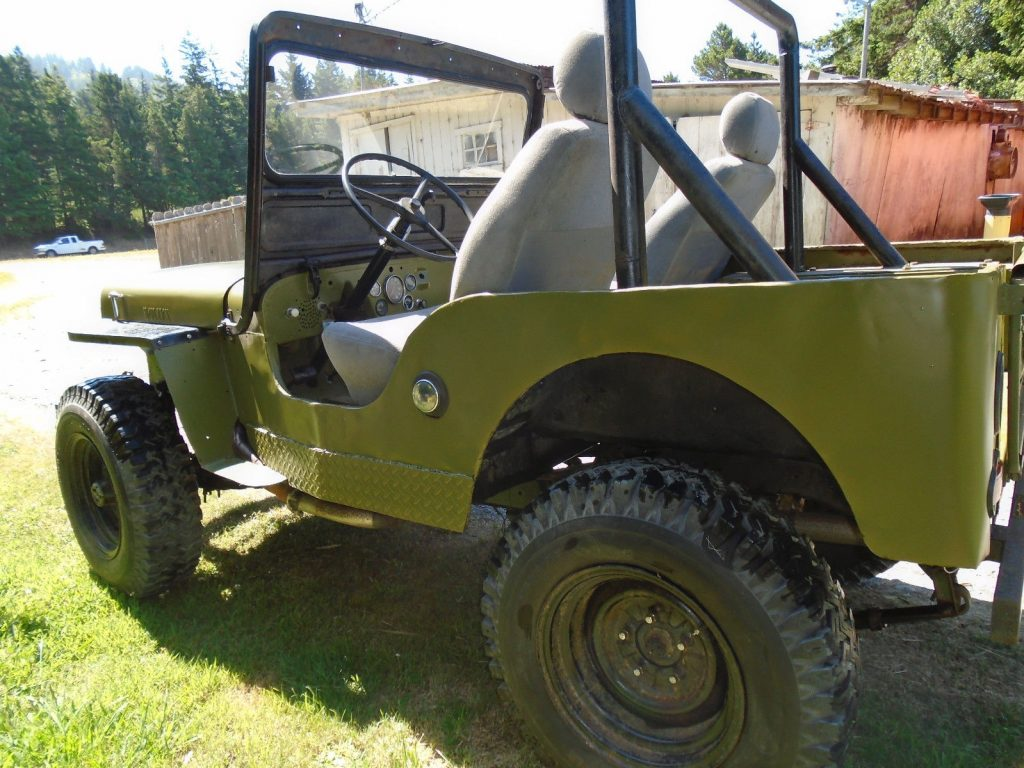 partially restored 1948 Willys CJ2A military
