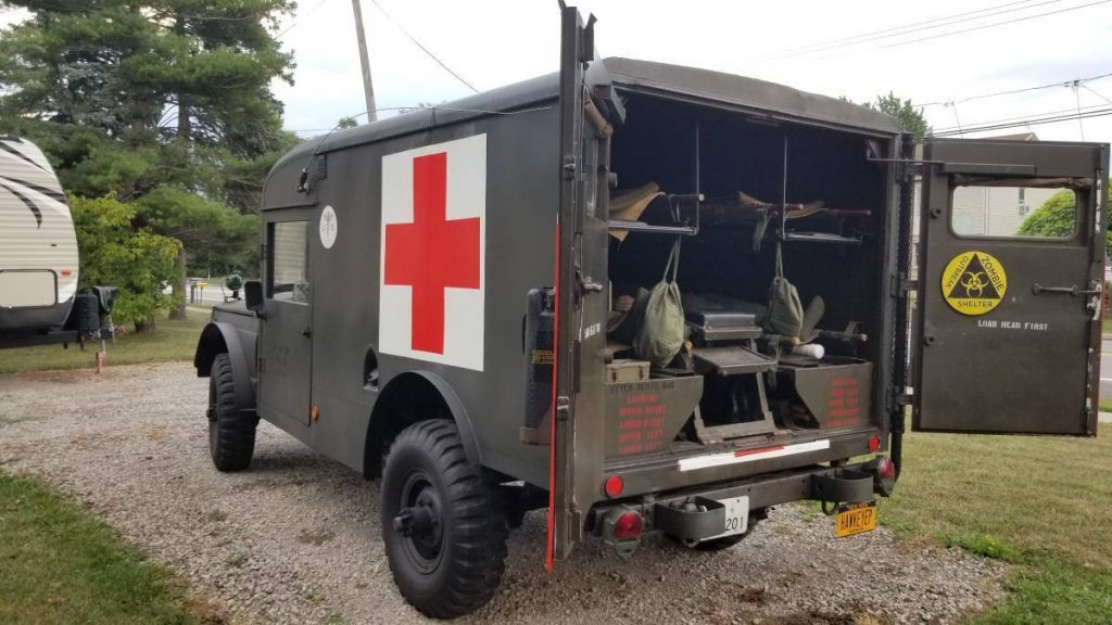 very nice 1969 Jeep M725 Military Ambulance