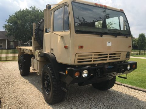 low miles 1998 Stewart & Stevenson LMTV 4X4 Military Flatbed for sale
