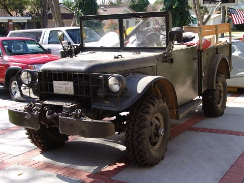everything works 1953 Dodge Power Wagon M37 military for sale