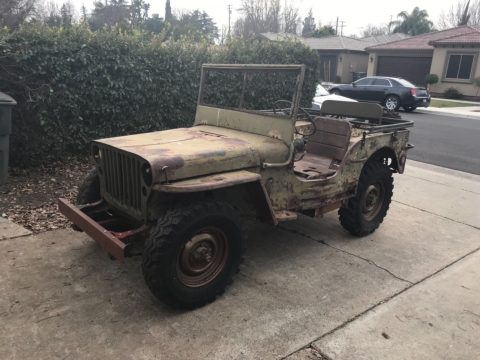 needs restoration 1943 Ford GPW Army Jeep military for sale
