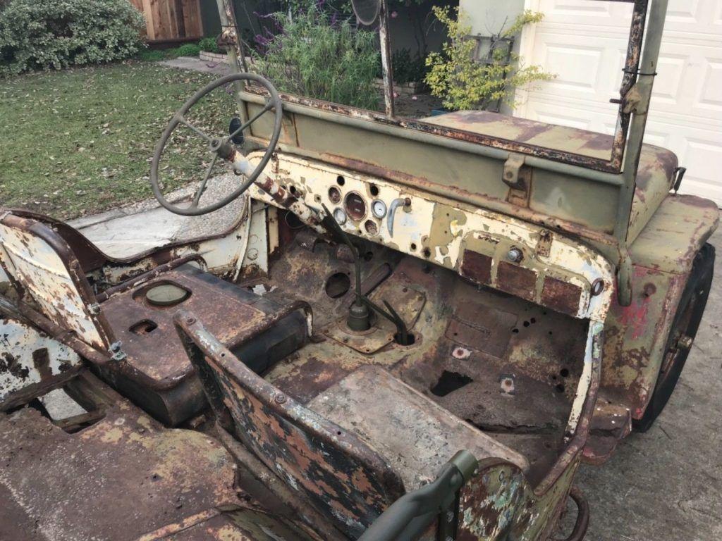 needs restoration 1943 Ford GPW Army Jeep military