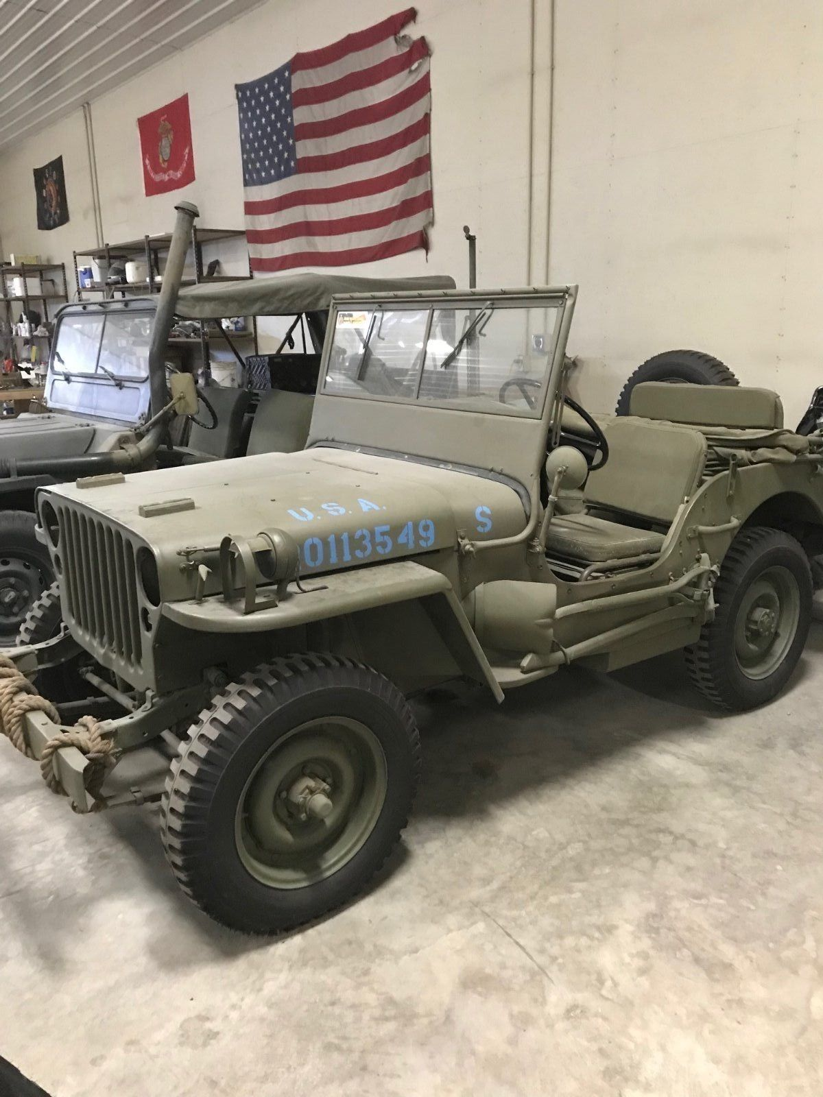 restored original WWII 1942 Ford Jeep GPW miluitary for sale