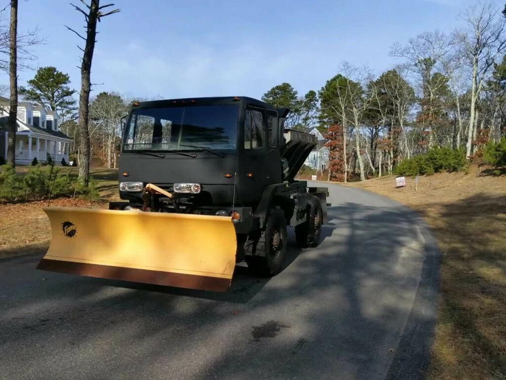 utility 1997 Stewart & Stevenson M1078 Army Plow Truck Salt Sander Military for sale