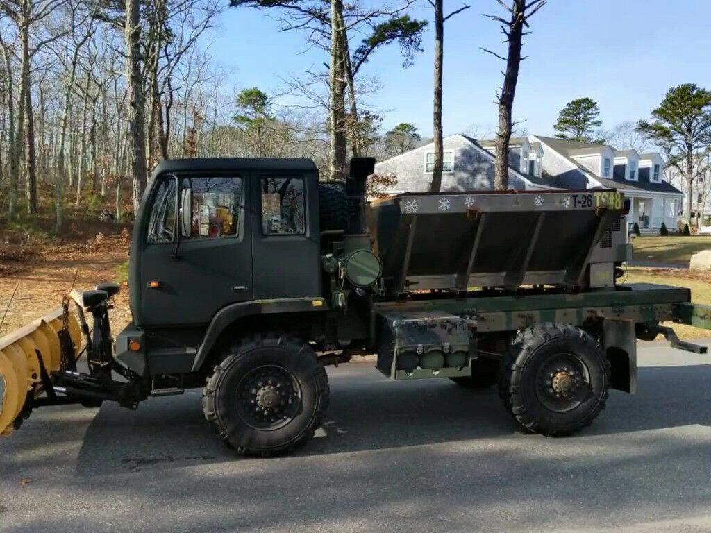 utility 1997 Stewart & Stevenson M1078 Army Plow Truck Salt Sander Military