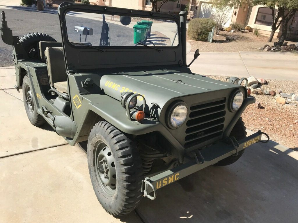 rebuilt 1966 Ford M151a1 MUTT Military for sale on rear body harness, rear drive shaft, rear seat, rear lights,