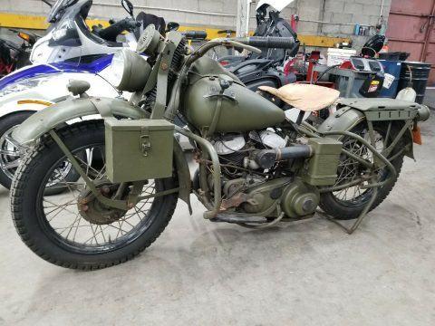 Vintage 1942 Harley Davidson WLA Military Motorcycle for sale