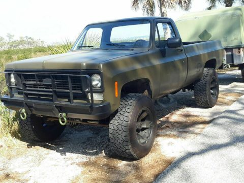 older front clip 1985 Chevrolet M1008 CUCV Longbed Pickup Military for sale