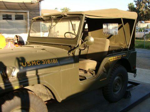 very nice 1964 Kaiser Jeep USMC M38A1 military for sale