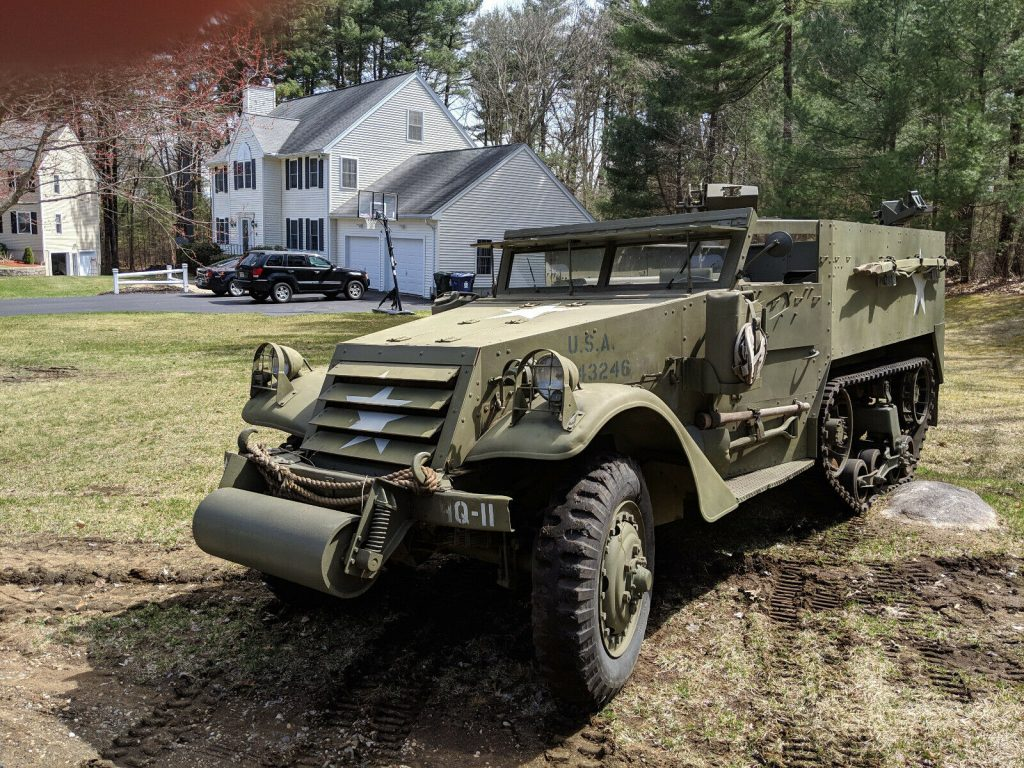 beautiful 1942 White M3 Halftrack military for sale