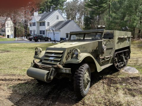 beautiful 1942 White M3 Halftrack military for sale
