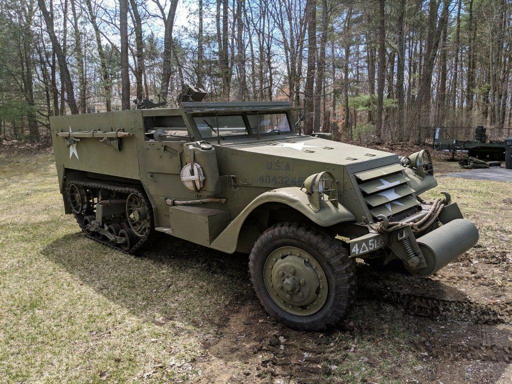 beautiful 1942 White M3 Halftrack military
