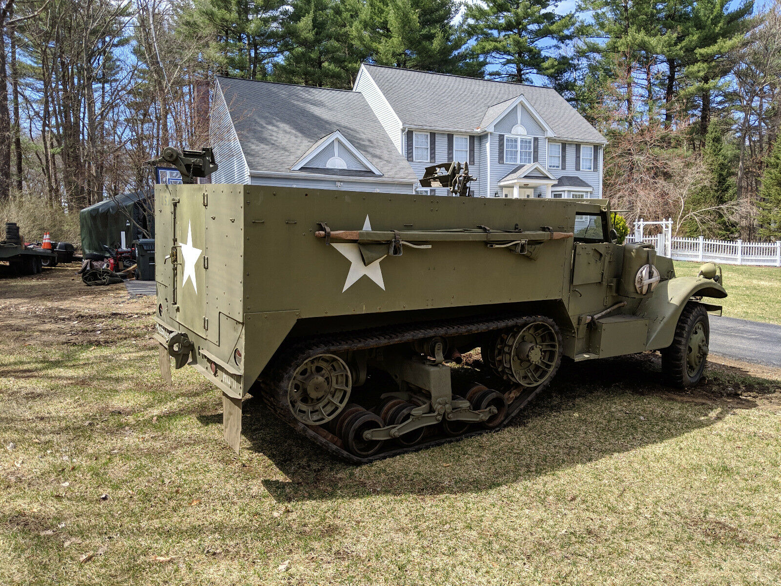 beautiful 1942 White M3 Halftrack military