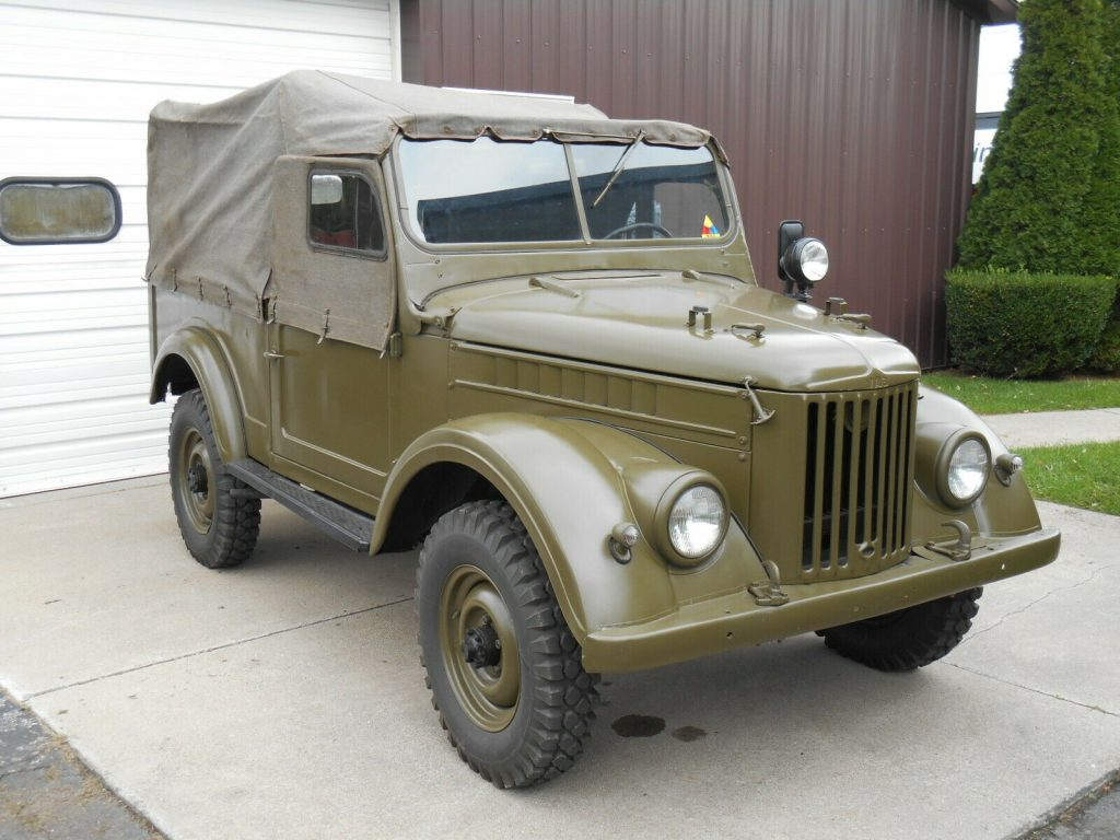 rare 1963 GAZ 69 Military Troop Hauler and Trailer