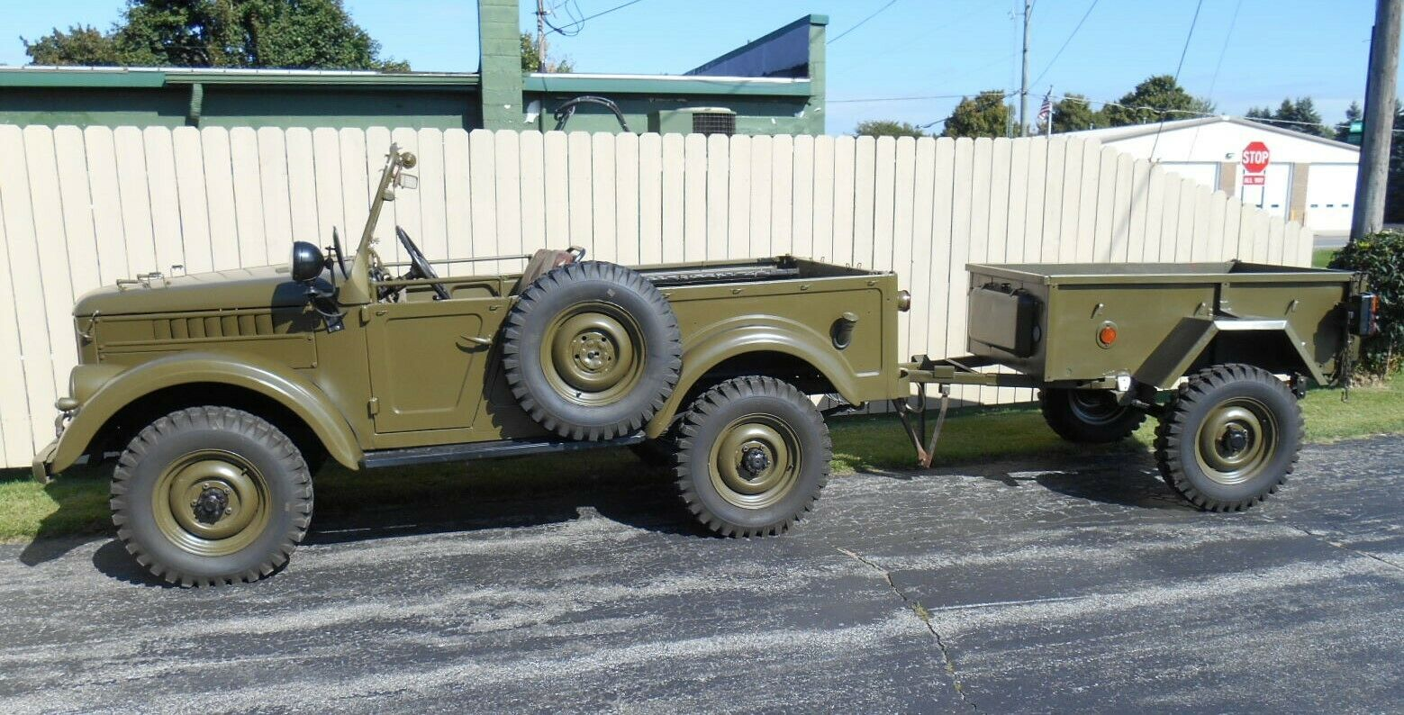 Rare 1963 GAZ 69 Military Troop Hauler And Trailer For Sale