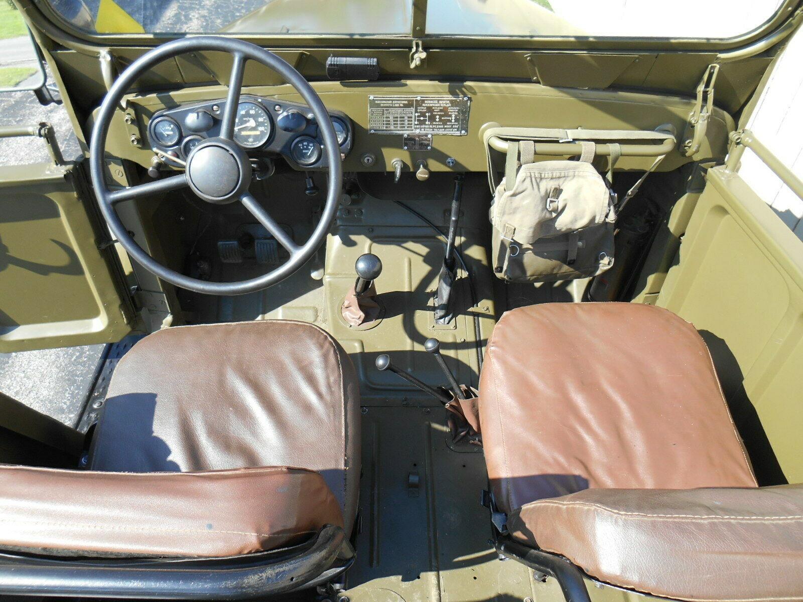 rare 1963 GAZ 69 Military Troop Hauler and Trailer