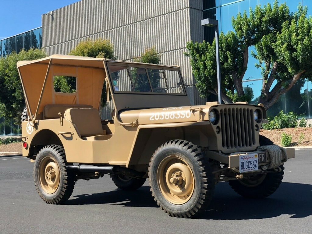 fully restored 1944 Willys mb jeep military