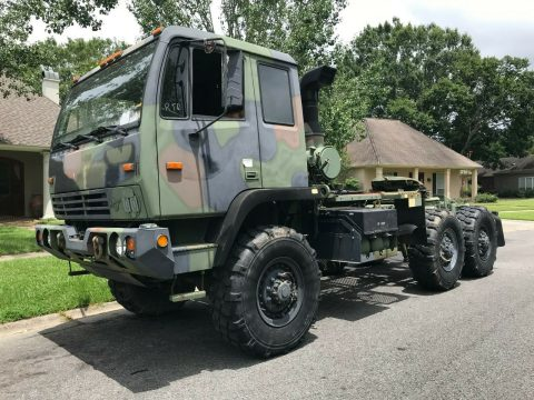 perfect solid 2001 Stewart & Stevenson 6WD 5 Ton Semi Truck military for sale