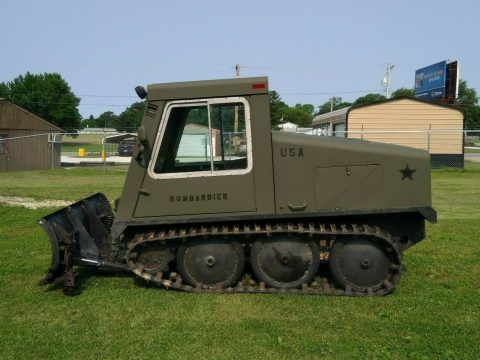 powerful 1985 Bombardier Industrial Tracked Plow SW48FA military for sale