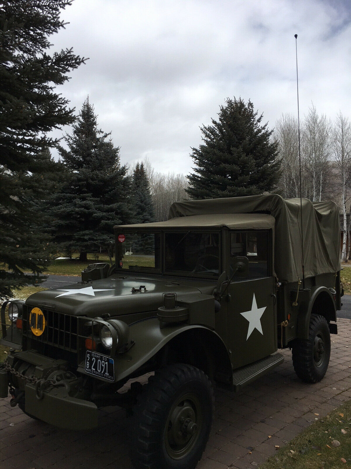 restored 1953 Dodge M 37 Truck Military for sale