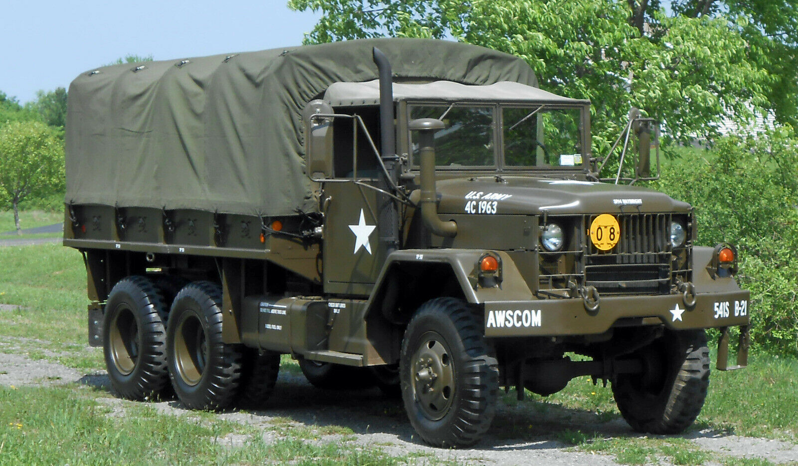 clean 1971 AM General M35a2, Deuce and a Half military