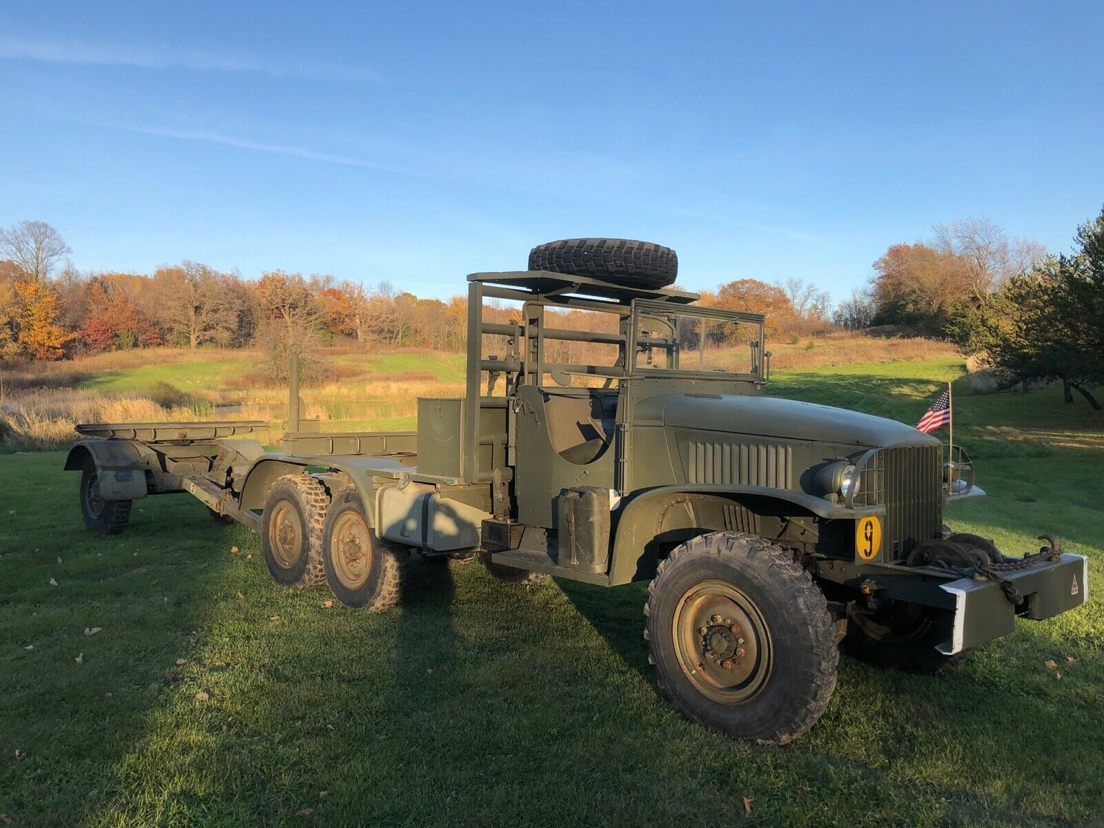 vintage 1945 GMC CCKW 353 Bolster Ponton Truck 6×6 military