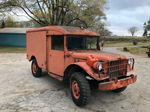new parts 1942 Dodge M43 Ambulance 4×4 Powerwagon military for sale