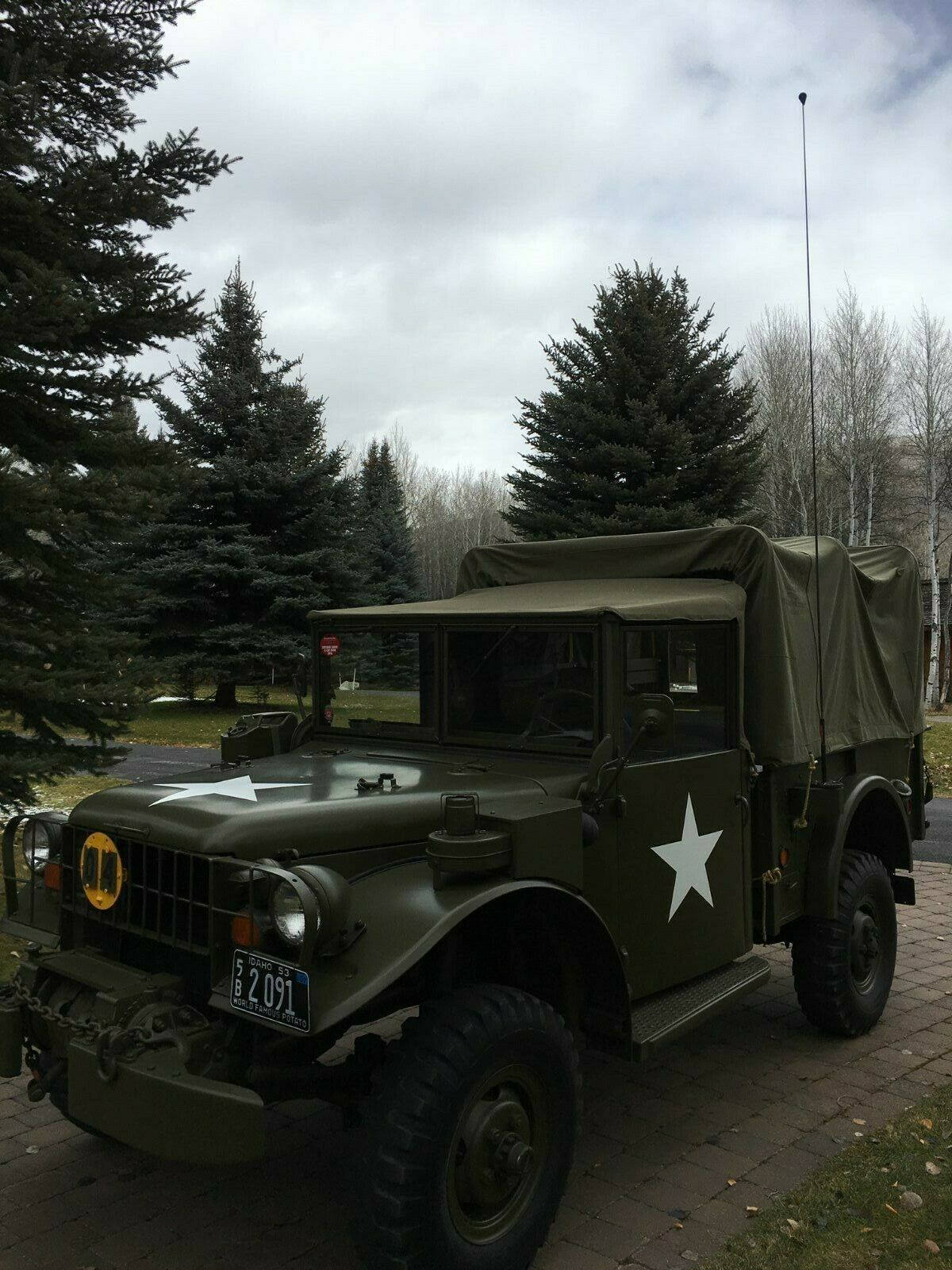 restored 1953 Dodge M 37 military for sale