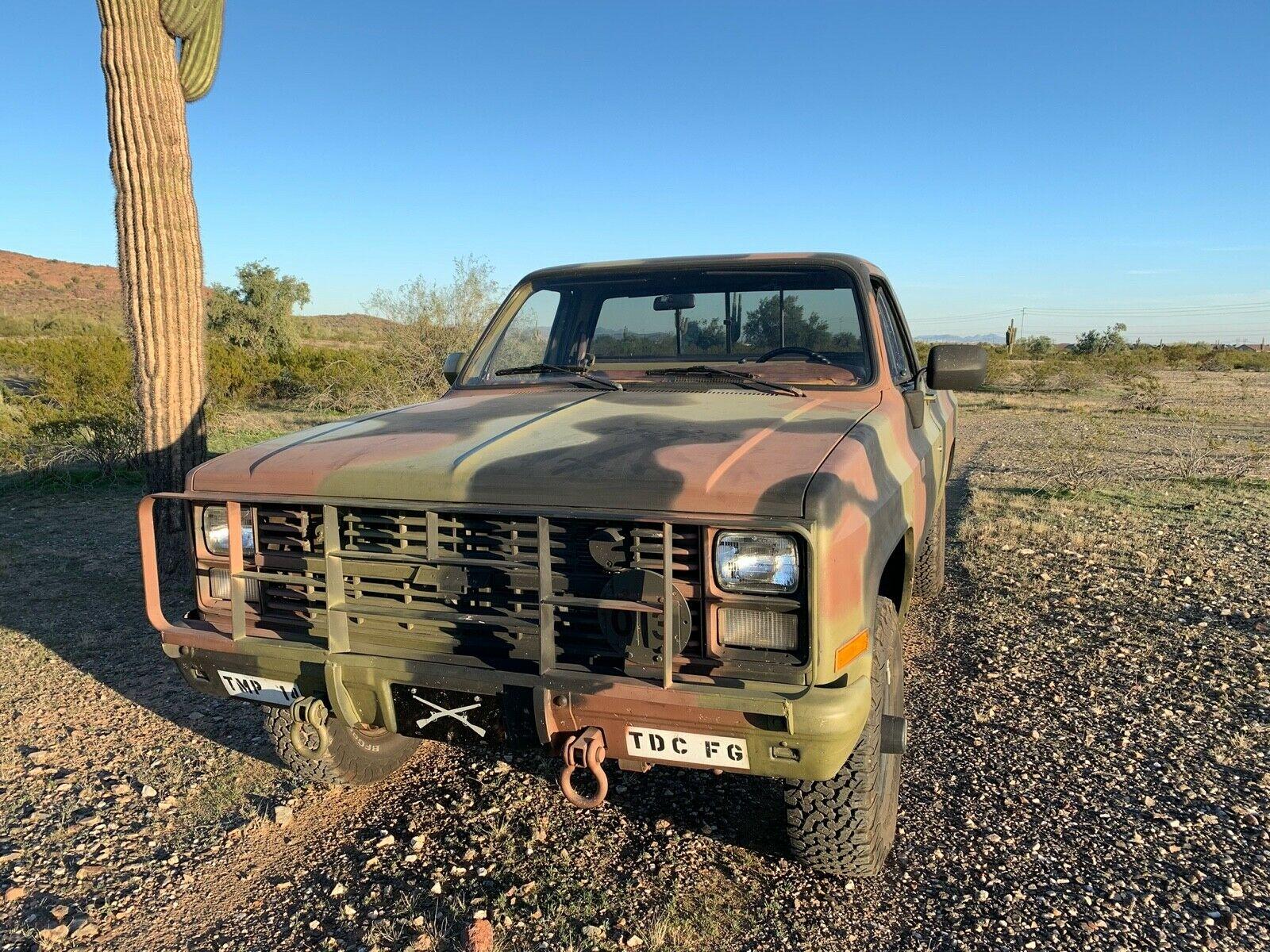 greyt shape 1986 Chevrolet 4×4 5/4 Ton M1008 CUCV military